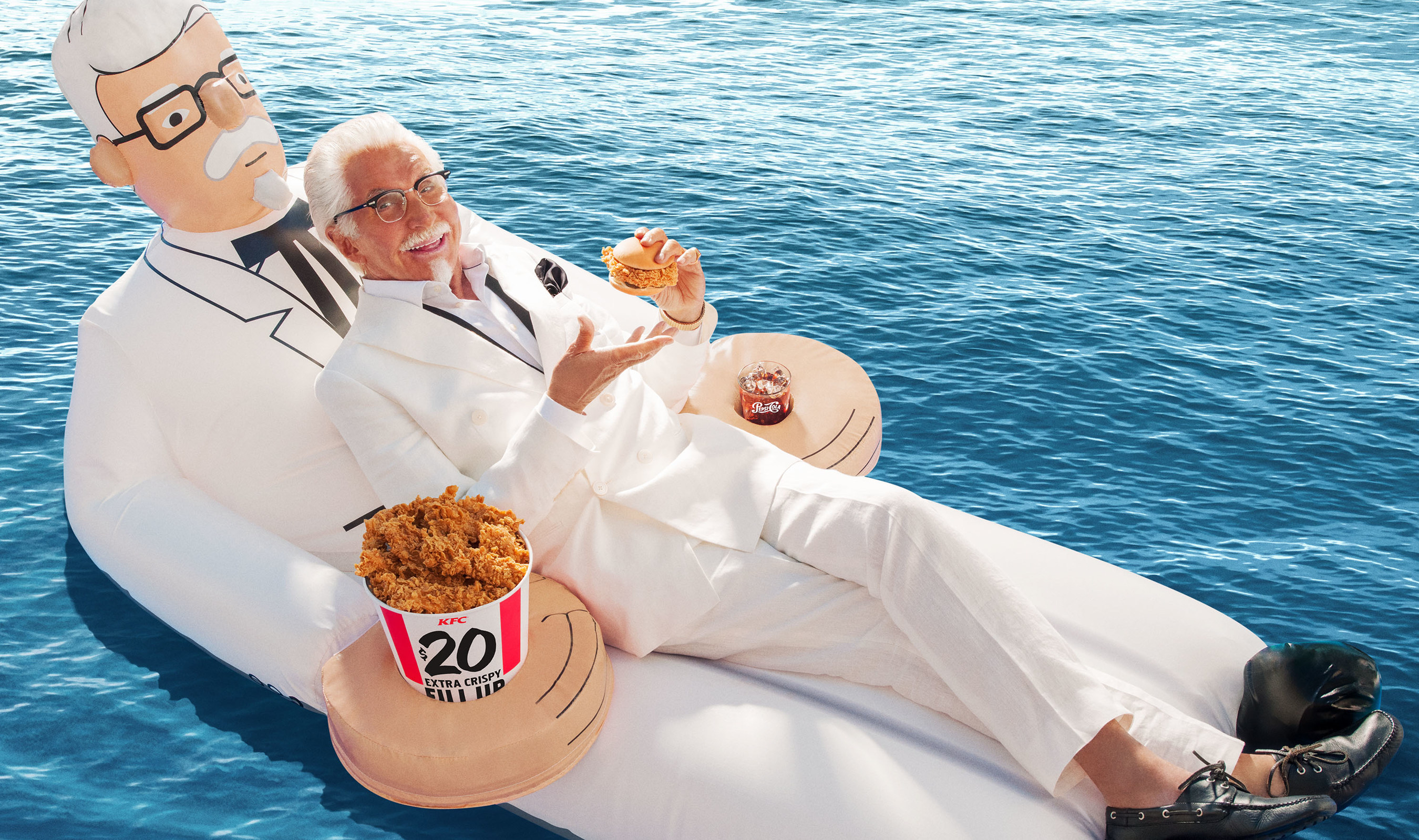 New Colonel Sanders Pool Float Is A Creepy Summer Dream