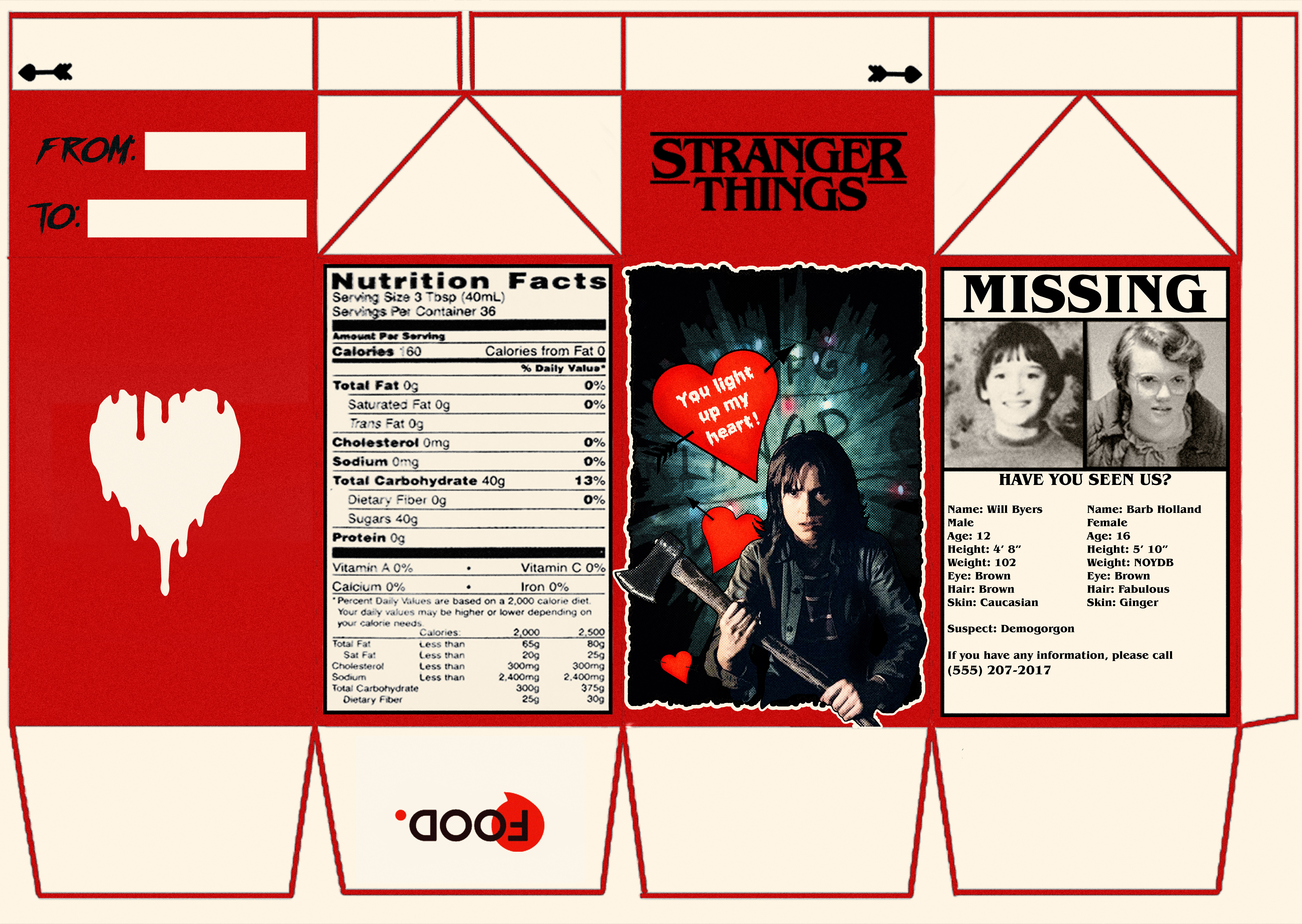 Stranger Things Candy Cartons